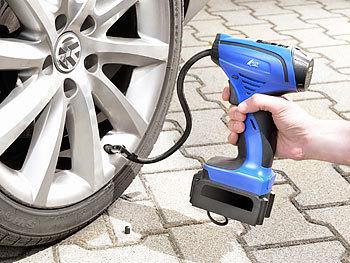 AGT Akkupumpe: Akku Kompressor Luftpumpe für Reifen, Bälle