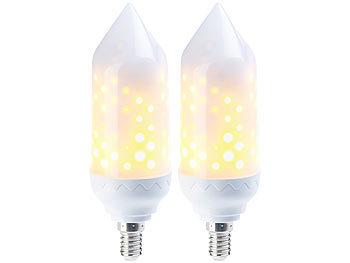 2er-Pack LED-Flammen-Lampe mit realistischem Flackern / Deko Lichter