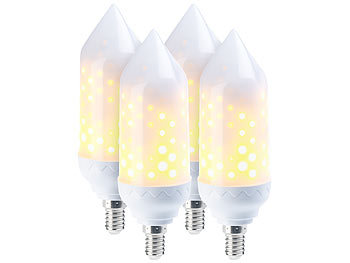 4er-Pack LED-Flammen-Lampe mit realistischem Flackern / Deko Lichter