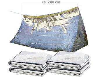 4er-Set Notfall-Zelte für 2 Personen, hitzeabweisend, kältedämmend / Notfallzelt