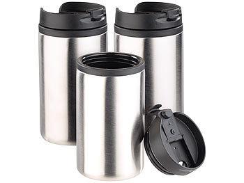 Edelstahl-Isolierbecher für warm & kalt, doppelwandig, 280 ml, 3er-Set / Thermobecher