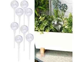 8er-Set Giessfrei-Bewässerungs-Kugeln aus Glas, transparent, Ø 6 cm / Bewässerungskugeln