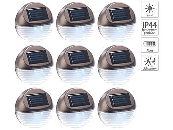 Lunartec Gartenzaun Beleuchtung 9er Set Solar Led