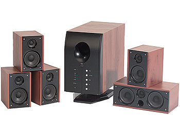 auvisio home theater surround sound system 5 1 mit fernbedienung. Black Bedroom Furniture Sets. Home Design Ideas