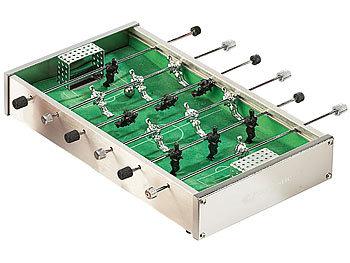 Mini-Tischkicker aus robustem Aluminium mit je 7 Spielern pro Seite / Spielzeug