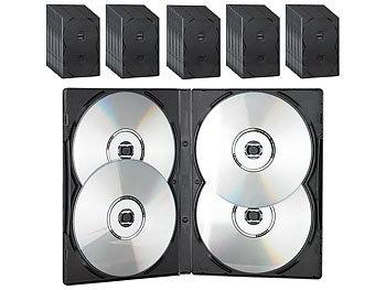pearl case f r cd dvd cd dvd soft h lle f r 4 dvds 50er set schwarz dvd leerh llen. Black Bedroom Furniture Sets. Home Design Ideas