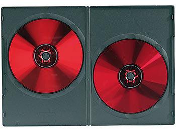 PEARL DVD Hüllen Slim: DVD Slim (7 mm) Einzel Box 50er Set