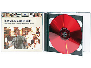 PEARL Doppel CD Jewel Boxen im 50er-Set, schwarzes Tray PEARL CD-Jewel-Case