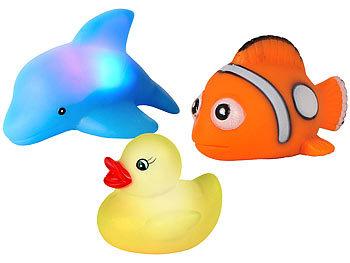 Blinkende Badewannen-Tierchen im 3er-Set / Spielzeug