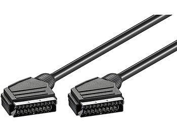 goobay SCART-Kabel, Stecker-Stecker, doppelt Abgeschirmt, 3,0m