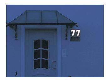 lunartec beleuchtete hausnummer solar. Black Bedroom Furniture Sets. Home Design Ideas
