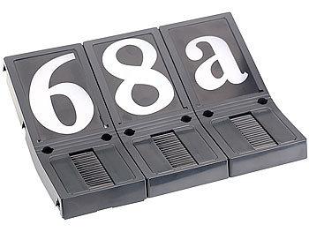 lunartec solar led hausnummer beleuchtete hausnummer solar 3er set leuchtende solar hausnummer. Black Bedroom Furniture Sets. Home Design Ideas