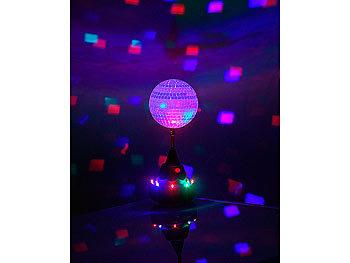 Lunartec Farbwechsel Led Discokugel Mit Motor Und St Nder