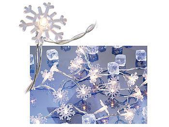 Lunartec fensterbeleuchtung motiv lichterkette snow 20 schneeflocken 3m lichterkette innen - Lichterkette am fenster aufhangen ...