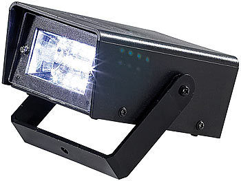 lunartec led disco strobe mit batteriebetrieb. Black Bedroom Furniture Sets. Home Design Ideas
