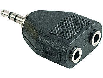 Kopfhörer-Adapter/Kupplung (verteilt 3,5mm Stecker auf 2x ...