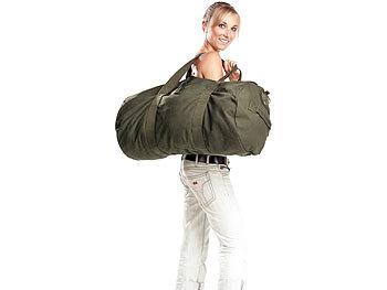 xcase canvas sporttasche canvas sport und reisetasche mit tragegriff 70 liter schultertaschen. Black Bedroom Furniture Sets. Home Design Ideas