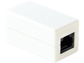Kupplung mit 2x RJ45-Buchse für Netzwerkkabel, 10/100 Mbit/s / Lan Kupplung
