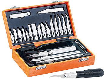 Bastelmesser 48-Teiliges Skalpell Messer Set Präzisionsmesser für Modellbau