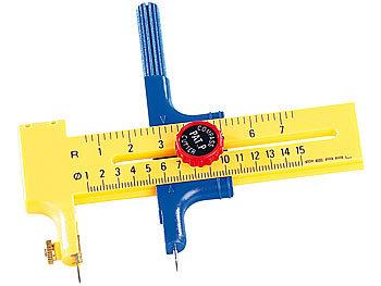 2in1-Rundschneider und Zirkel mit Ersatzklingen & -minen, bis 15 cm / Kreisschneider
