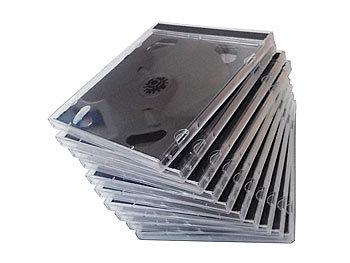 pearl cd jewel case cd jewel boxen im 10er set schwarzes tray cd leerh lle. Black Bedroom Furniture Sets. Home Design Ideas