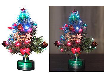 Mini Weihnachtsbaum Mit Batterie.Pearl Weihnachtsbaum Für Lkw Led Weihnachtsbaum Mit Glasfaser