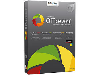 SoftMaker Office Professional 2016 (für 3 PCs) SoftMaker Office-Pakete (PC-Software)