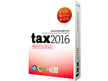 buhl data steuersoftware tax 2016 professional f r das steuerjahr 2015 steuer pc software. Black Bedroom Furniture Sets. Home Design Ideas