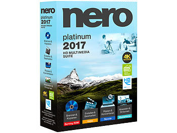 Nero Platinum 2017 Multimedia Suite Nero Brennprogramme & Archivierungen (PC-Softwares)