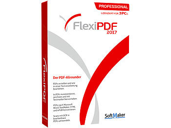 SoftMaker FlexiPDF 2017 Professional - Lizenz für 3 PCs SoftMaker PDF-Generatoren (PC-Software)