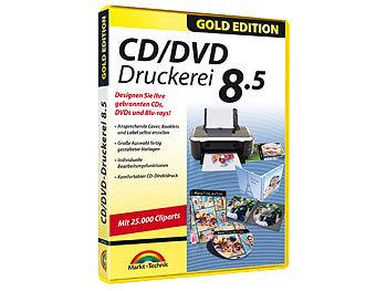 CD/DVD Druckerei 8.5 Gold Edition, für Windows Vista/7/8/8.1/10 / Software