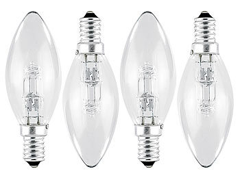 luminea kerzenlampe e14 halogen kerze e14 230v 42w 4er. Black Bedroom Furniture Sets. Home Design Ideas