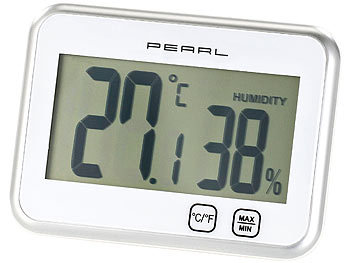 PEARL Digitales Thermometer & Hygrometer mit Minimum / Maximum, Touch PEARL