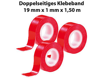 agt doppeltes klebeband doppelseitiges klebeband power zip 19 mm x 1 5 m 3er pack montage. Black Bedroom Furniture Sets. Home Design Ideas