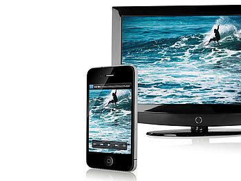 auvisio HDMI-Video-Adapter iPhone/iPad an LCD-TV/Beamer, Full HD auvisio