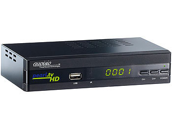 auvisio Digitaler pearl.tv HD-Sat-Receiver DSR-395U.SE, HDMI & Scart auvisio HD-Sat-Receiver