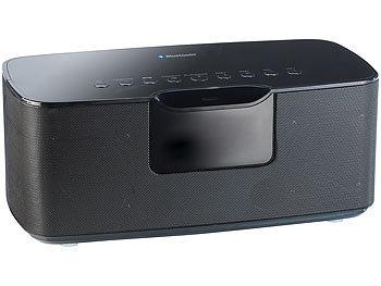 auvisio tragbare boxen stereo hifi lautsprecher msx mit bluetooth 20 watt kabellose. Black Bedroom Furniture Sets. Home Design Ideas