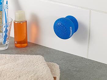 PEARL Lautsprecher Badezimmer: Aktiv-Lautsprecher; Bluetooth 2.1 f ...