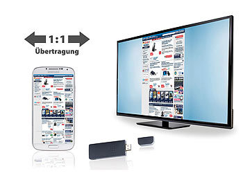TVPeCee HDMI-Stick MMS-895mira+ mit Miracast & iOS-Mirroring TVPeCee Miracast Dongles