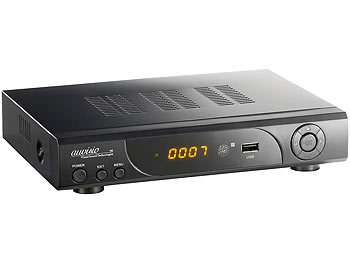 auvisio HD-Sat-Receiver + FullHD-Player & HDD/Festplatten-Schacht auvisio HD-Sat-Receiver