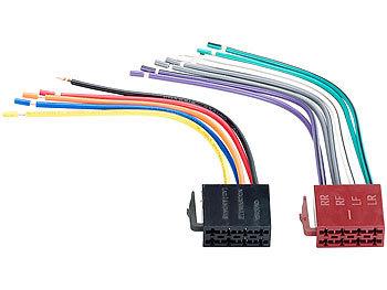 Creasono Autoradio Iso Stecker: ISO Stecker 15cm (Autoradio ...