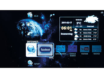 Meteorit HDMI-Multimedia-&Internet-TV-Box MMB-322.HDTV Android2.2/WLAN Meteorit