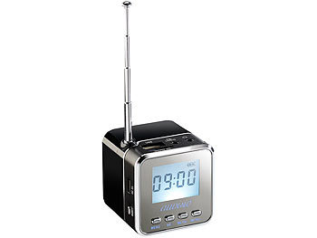 "auvisio Mini-MP3-Station ""MPS-550.cube"" mit integriertem Radio auvisio MP3 Soundstations"