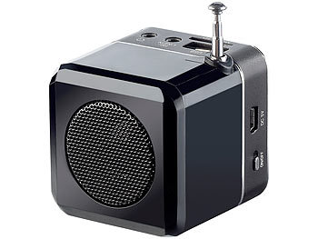 auvisio Mini-MP3-Station mit integriertem FM-Radio, USB-/SD-Karten-Slot, 8 W auvisio MP3-Soundstations