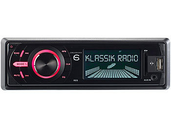 Creasono MP3-Autoradio CAS-4400.bt mit DAB+, USB, SD & BT, 4x 45 W Creasono DAB+ Autoradios mit Bluetooth & MP3