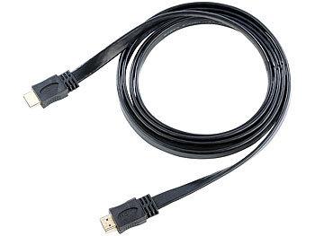 HDMI-1.4-Flachkabel High-Speed, vergoldete Kontakte, 1 m   Hdmi Kabel