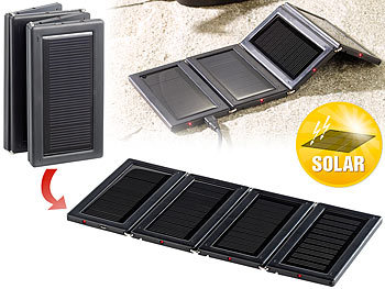 revolt tragbare solar panels faltbares mini solarpanel mit 4 monokristallinen zellen. Black Bedroom Furniture Sets. Home Design Ideas