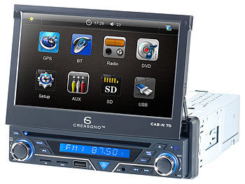 creasono 7 touchscreen dvd autoradio mit nav westeur. Black Bedroom Furniture Sets. Home Design Ideas