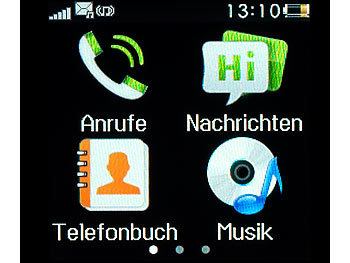 simvalley MOBILE Handy-Uhr PW-315.touch mit Uhr und Mediaplayer (refurbished) simvalley MOBILE Handy-Uhren