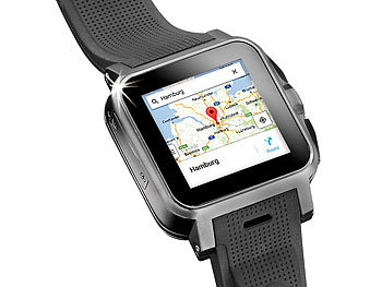 "simvalley MOBILE 1.5""-Smartwatch AW-414.Go mit Android4, BT, WiFi, Cam simvalley MOBILE"